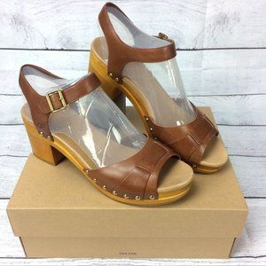 UGG Janie Rust Leather Sandals Women's Shoes Sz 10